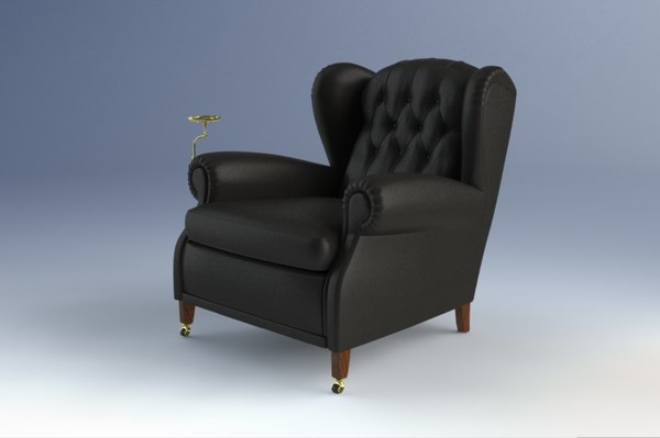 1919 armchairs 3d model