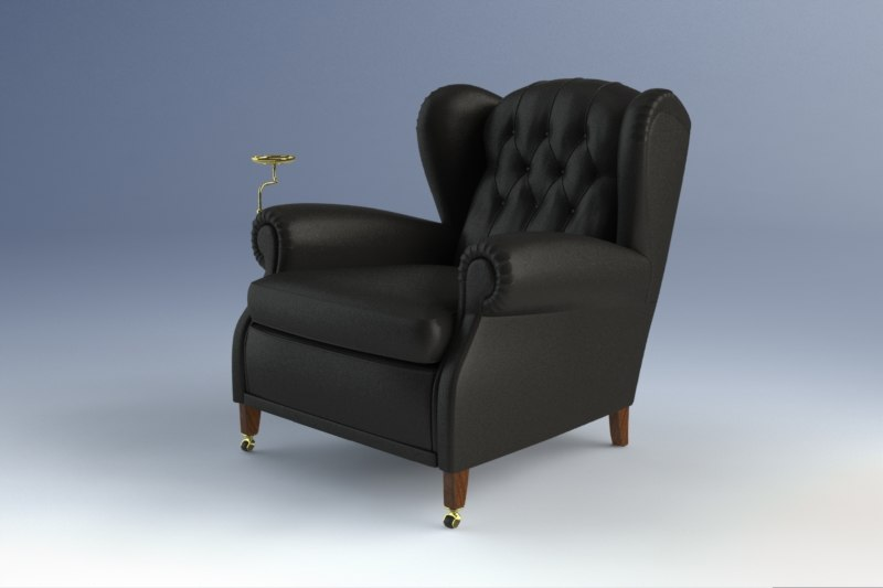 1919 armchairs 3d model for Poltrona 3d