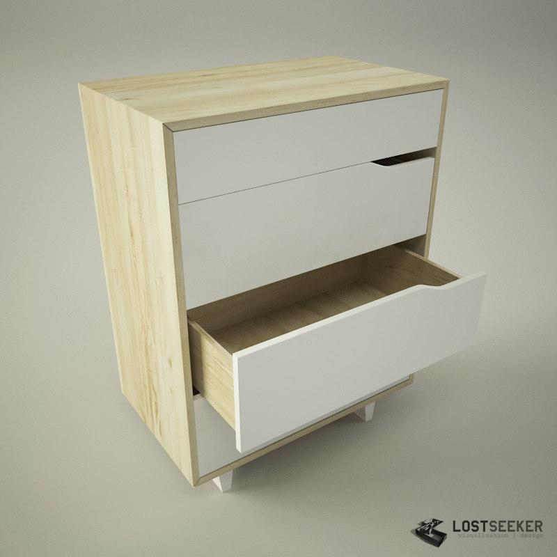 ikea mandal 3d model. Black Bedroom Furniture Sets. Home Design Ideas