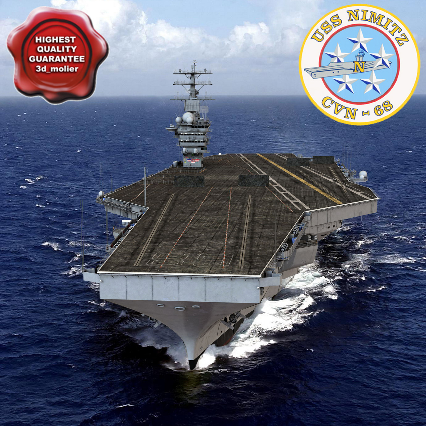 3d nimitz carrier modelled