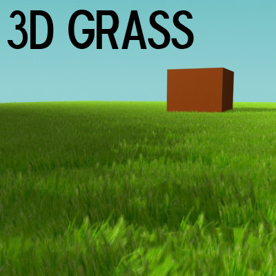 grass particle 3d max