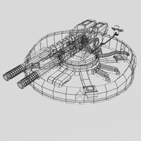 3d large aa gun model