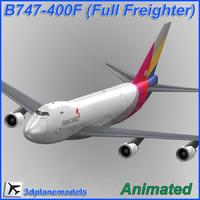 b747-400 asiana cargo plane 747 lwo