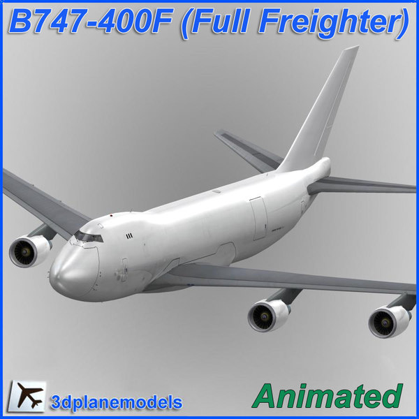b747-400 generic white 747 3d model