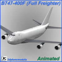 B747-400F Generic white