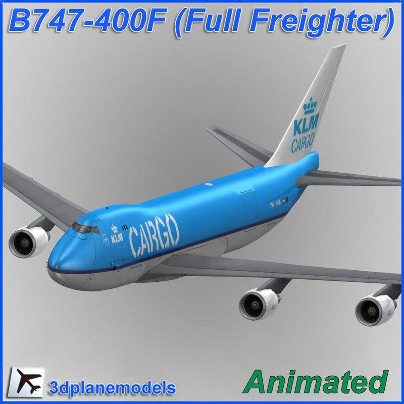 max b747-400 klm cargo plane 747