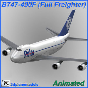 3d b747-400 polar air cargo model
