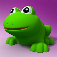 3d model rubber frog