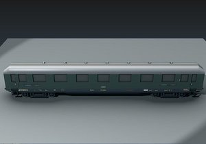 railway passenger car 3d model