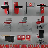 3dsmax 7x bank furniture