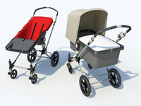 3d baby bugaboo buggies model