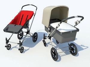 3d baby bugaboo buggies model