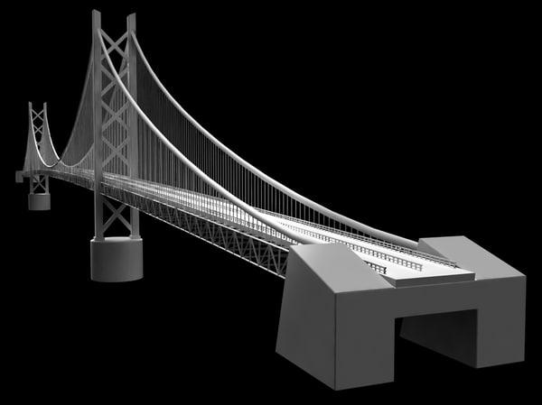 akashi bridge 3d ma