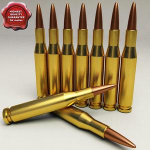 cartridge 12 7x108 3d model
