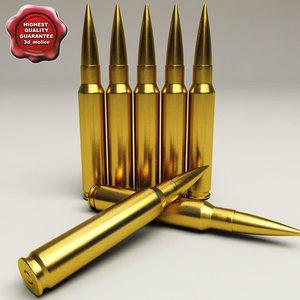 3d model cartridge 408 cheytac