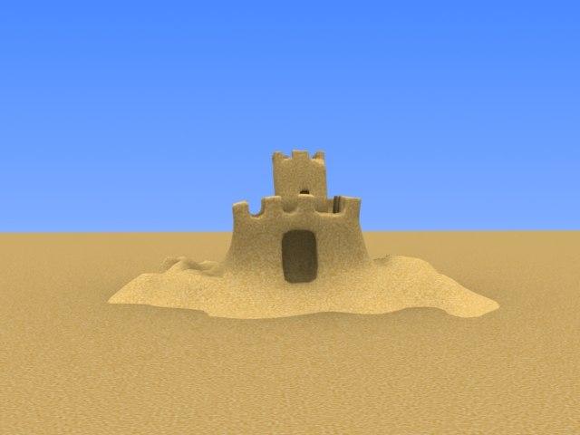 max small sand castle