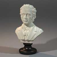 3d frederic chopin bust