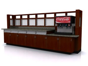 beverage station soda dispenser 3d model