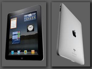 apple ipad 3d model