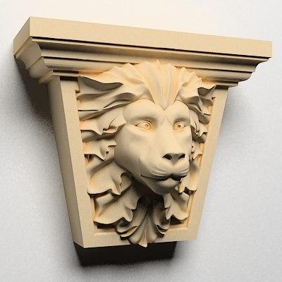 classical decoration interior wall 3d model