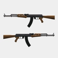 3d model ak47 weapon