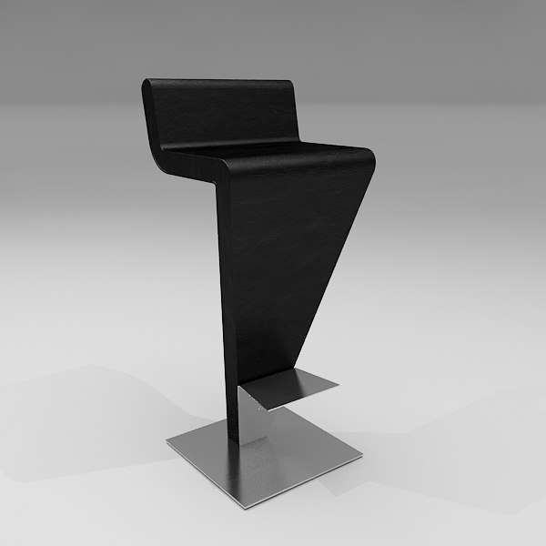 marquee bar stool 3d max