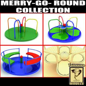 merry merrygoround 3d model