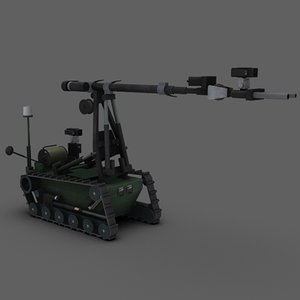 remotec wheelbarrow mk8 ii 3d 3ds