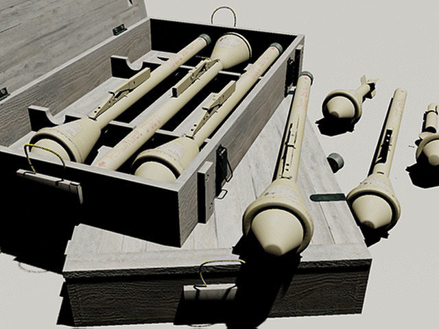 3d model of wwii german panzerfaust 60
