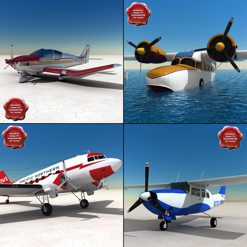 3d 3ds private aircraft v2