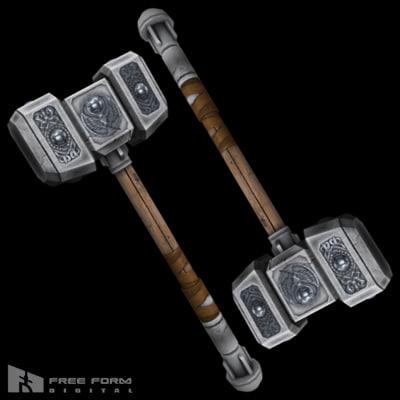 war hammer 3d model