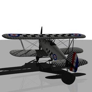 hawker fury 3d model