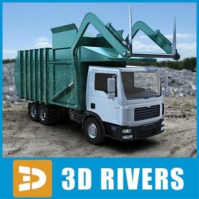 3d loader garbage truck