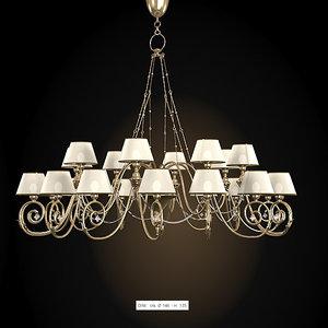 baga classic chandelier 3d model