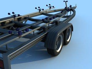 boat trailer 3d model
