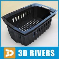 black plastic container 3d max