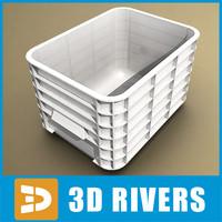 white plastic container 3d model