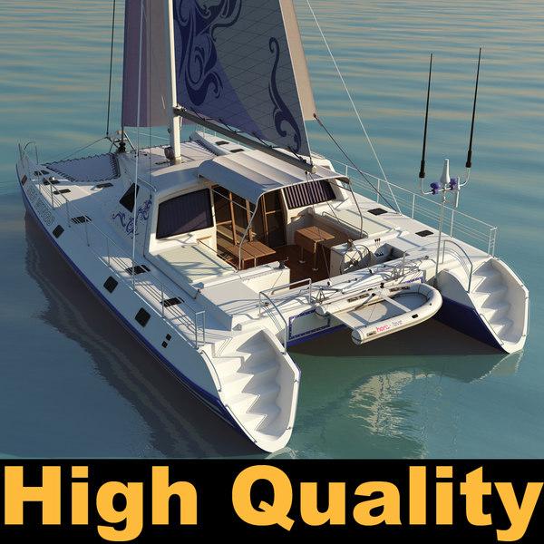 3ds max catamaran boat