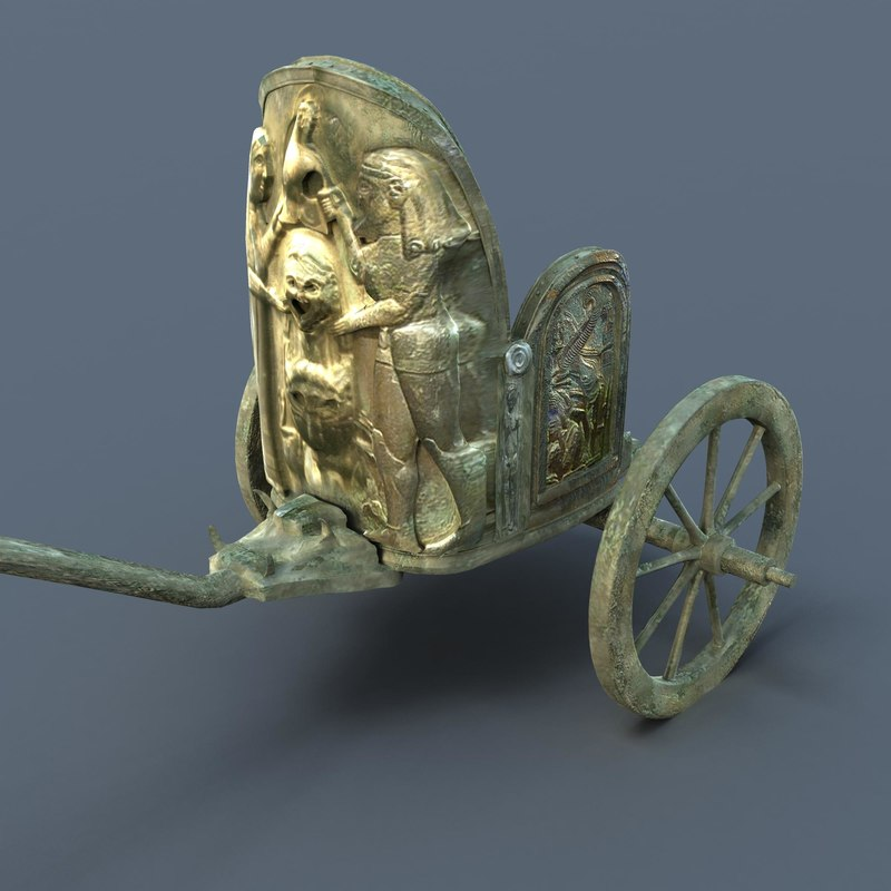 3d model of etruscan chariot