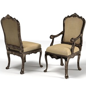 classic dining chair 3d max
