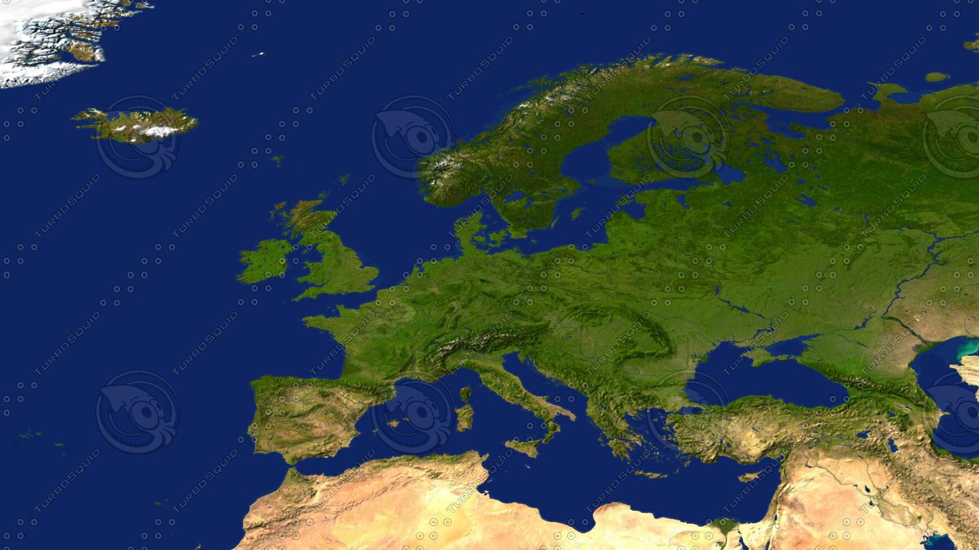 3dsmax europe maps