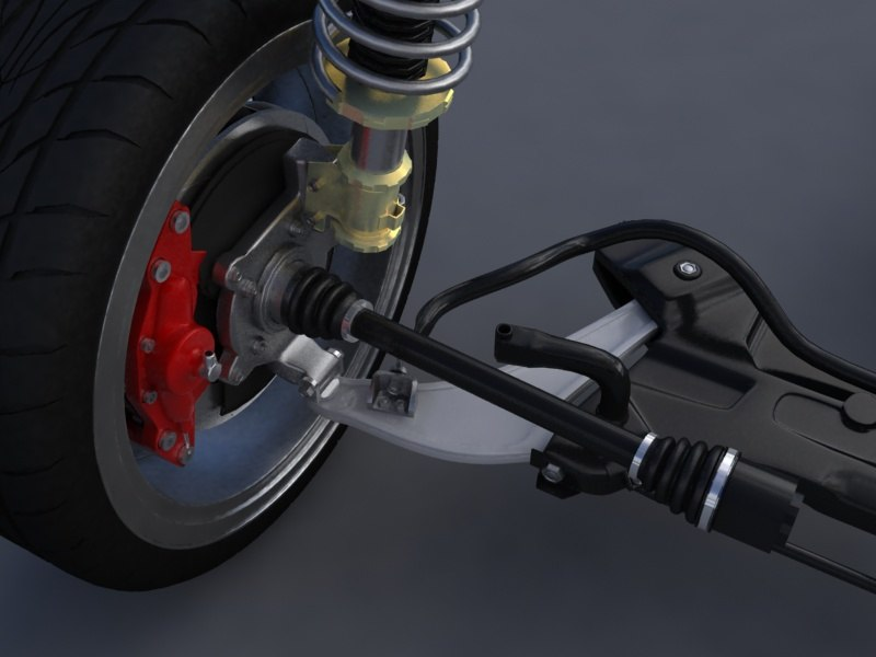 suspension mitsubishi evo x 3d model