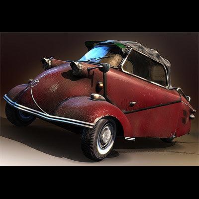 messerschmitt kr200 bubblecar 3d model