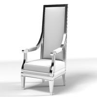 3d model tall modern chair