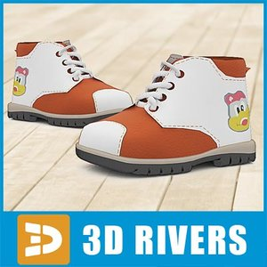 3d model of kids boots