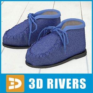 kids shoes 3d max