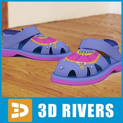 3ds max kids shoes