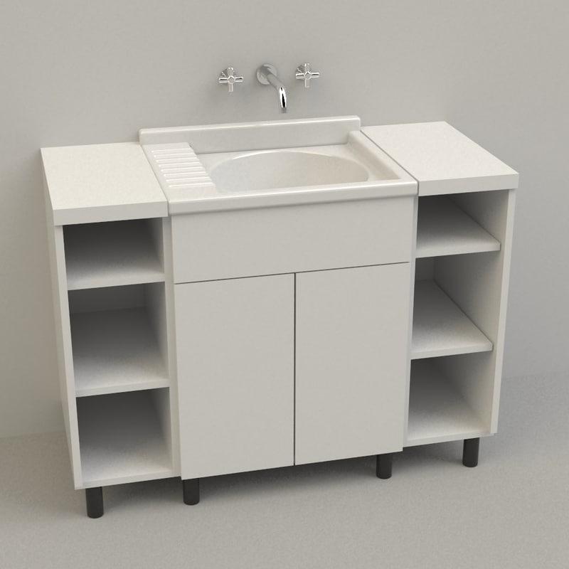 washbasin rhinoceros 3d model