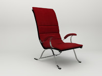 chair red 3d 3ds