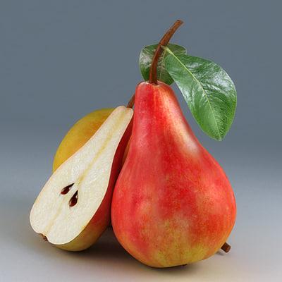 3d model pears